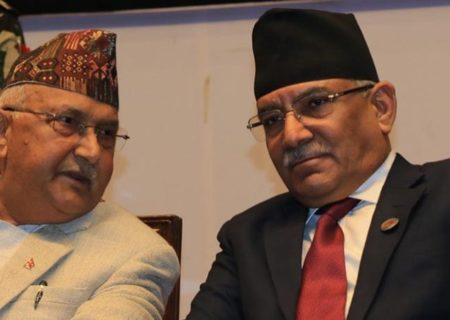 Oli, Dahal try to break ice in subject of political concerns regarding the two nations