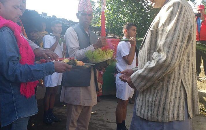 पृथ्वीनारायण शाहले उपहार दिएको शक्तिको प्रतिक खड्ग फुलपाती सँगै भित्र्याईयो जाजरकोट दरवारमा