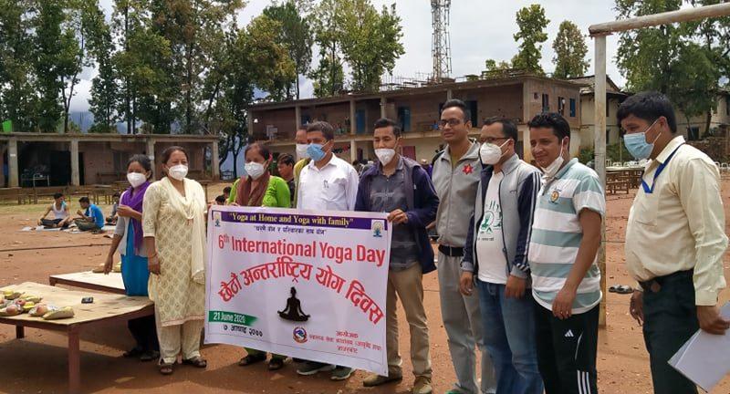 जाजरकोटमा छैटौं अन्र्तराष्ट्रिय योग दिवस मनाइयो