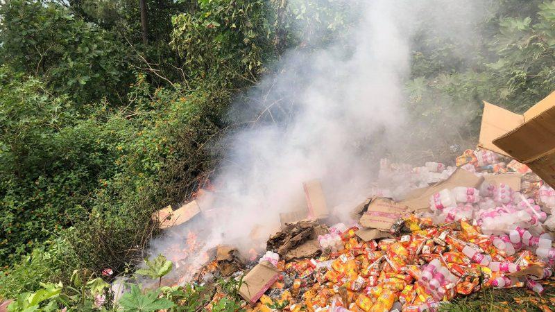 म्याद नाघेका खाद्यबस्तु बेच्ने ब्यापारीलाई २५ हजार जरिवाना, गोदाम सिल