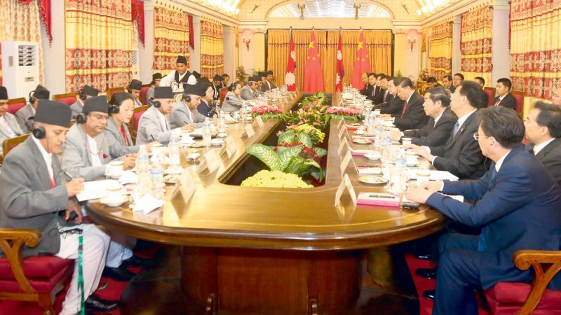 नेपाल र चीनबीच १७ सम्झौतामा हस्ताक्षर