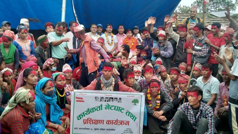 मेयरकै वडाबाट नेकपा र राप्रपा परित्याग गरि ८५ जना काँग्रेसमा प्रवेश